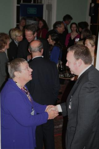 Sue Palmer, Chairman, greeting guest