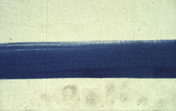 Detail of fingerprints on an acrylic film paint (copyright Tate 2006)