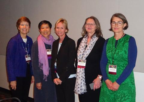 Fiona (2nd right) with fellow delegates. Image courtesy of Cindy Colford.