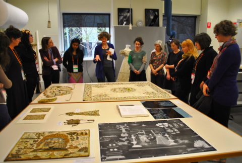 ICOM-CC visit to the National Gallery of Victoria textile studio.