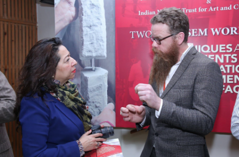 Nick Boyes attended 'Instruments & Techniques for Conservation of Monuments and Artefacts' in New Delhi.