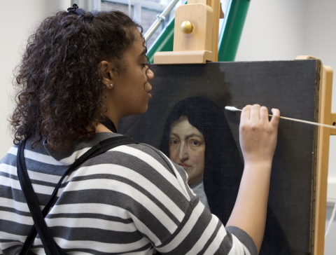 Kendall Francis, Plowden Scholar each academic year of her PGDip in Easel Painting Conservation, Courtauld Institute of Art