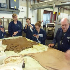 Tanning, analyses and currying. Image courtesy of the Leather Conservation Centre.