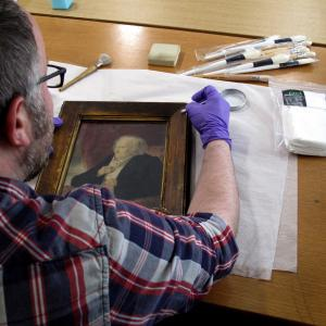 Cleaning a portrait
